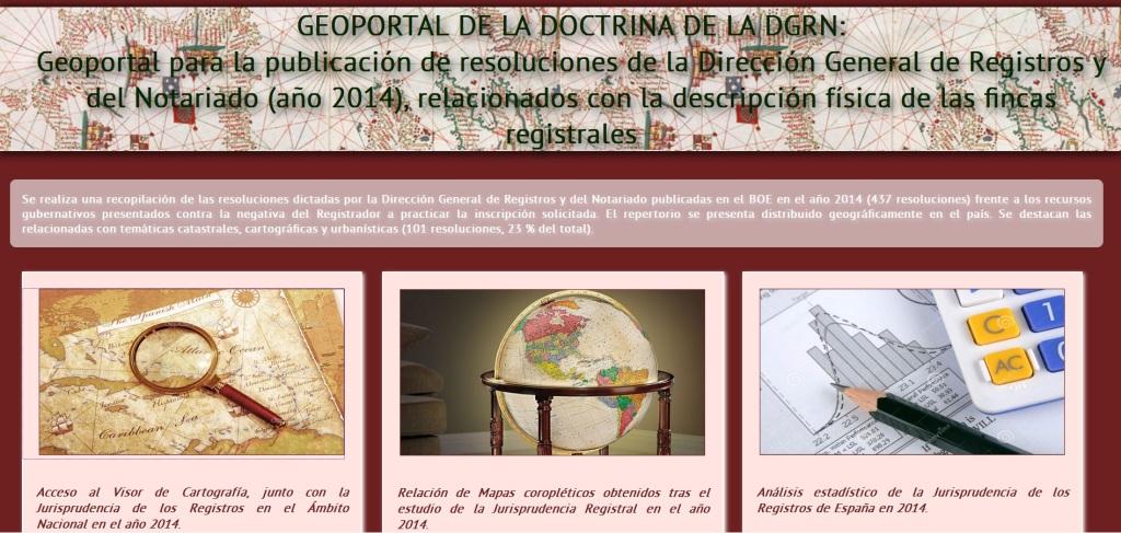 Geoportal de la Doctrina de la DGRN, 2014